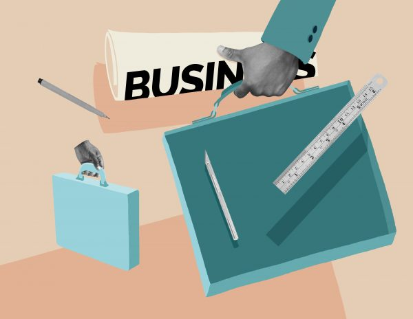 Design as a business tool, illustration by modern8