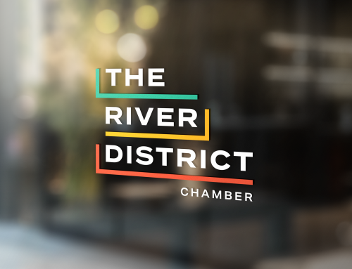 the river district branding